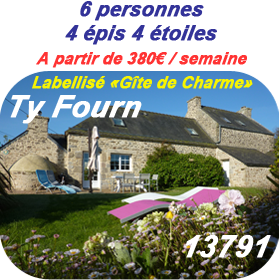 Description du gite Ty Fourn 13791 Labellisé Gite de Charme